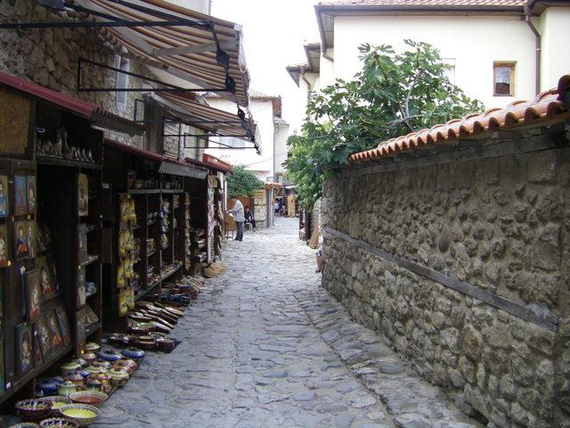 A quiet street in Nessebar
